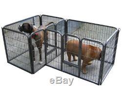 Heavy Duty Pet Playpen For Dog Puppy Rabbit Cage Run Pen Portable Folding Pen
