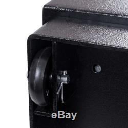 Heavy Duty Portable Lock Box Jewelry Money Security Cabinet Code Key Safe Wheels
