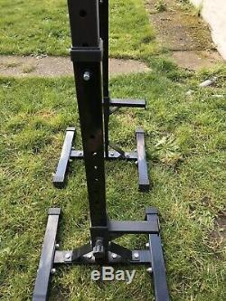 Heavy Duty Squat & Bar Rack, Portable, Easy To Store
