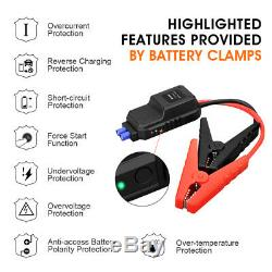 Heavy Duty USB Car Jump Starter Pack Booster Battery Charger Power Bank 2000Amp