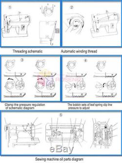 Heavy Duty Walking Foot Zigzag Stitch 7''inch Arm Leather Sewing Machine