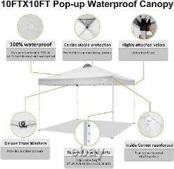 Heavy Duty Waterproof Pop Up Gazebo Garden Wedding Party Canopy Tent with 4 Sides