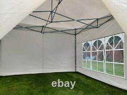 Heavy Duty Wimba 3x3 Pop-up Gazebo (Marquee) with Sides. White