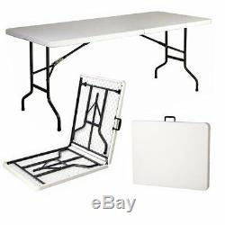 Heavy-duty Folding Table 6ft Camping Caravan Picnic Banquet Party Garden Bbq