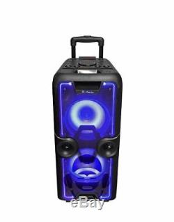 IDance Megabox 2000 Portable Heavy Duty Bluetooth Speaker Party System in Black