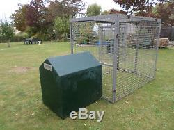 Kennels and runs. Heavy duty runs with fibreglass Kennels attached