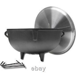 King Kooker 5920 5-Gallon Heavy Duty Cast Iron Jambalaya Pot with Feet and Lid