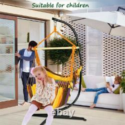 Large Heavy Duty Garden Hammock C-stand Hanging Swing Egg Chair Frame with Base