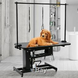 Large Heavy Duty Hydraulic Dog Grooming Table Station with H Bar Arm Leash UK