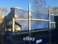 Large Portable Water Storage Tank 1700 Ltr Heavy Duty Blue Plastic Stillage Galv