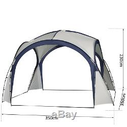 Large Waterproof Marquee 3.5x3.5m Garden Gazebo Event Shelter Party Camping Tent