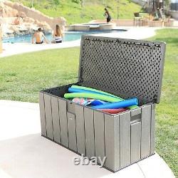 Lifetime Garden Storage Box Waterproof Piston Lid 568 Ltr XL Size 10 Yr Warranty