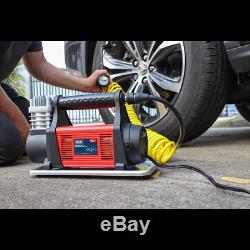MAC07 Sealey Mini Air Compressor 12V Heavy-Duty Tyre Inflators