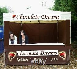 MOBILE CATERING TRAILER HEAVY DUTY FOOD GAZEBO MARQUEE pop up KIOSK With Signs