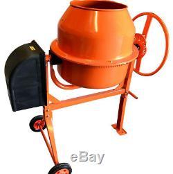Mighty 550W 140L Drum Portable Electric Concrete Cement Mixer Mortar Plaster
