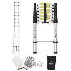 Multi-Purpose 5M Aluminium Telescopic Ladder Heavy Duty Loft Step Home Ladder A+