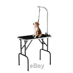 NEW Foldable 31 Alumunum Pet Dog Grooming Table WithArm Noose Non-Slip MDF Board