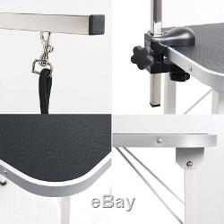 NEW Foldable 31 Cat Pet Dog Grooming Trimming Table Noose Arm Non-Slip Top MDF