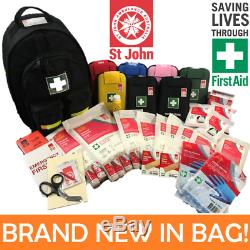 NEW ST JOHN Modular First Aid Kit Bag Back Pack Portable Trauma Heavy Duty Work