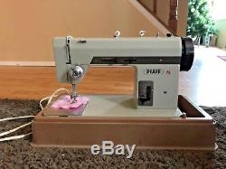 NICE Vintage 1960s PFAFF 76 Super Heavy Duty Zig-Zag Mechanical Sewing Machine