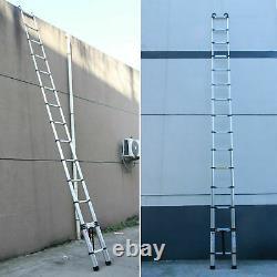 New 6.2M Extendable Portable Heavy Duty Aluminium Telescopic Ladder + Free Hooks