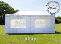 New Wimba Deluxe HEAVY DUTY 3x6m Popup Gazebo Marquee Canopy ALL sides