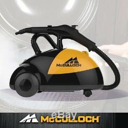 New in Box McCulloch Heavy Duty Steam Cleaner MC1275 With 18 Accessories