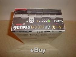 Noco Gb70 Genius Boost Hd Jump Starter Lithium 2000a 12v Heavy Duty New & Sealed