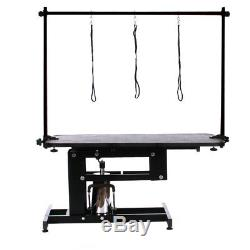 Non-slip Dog Grooming Table Hydraulic Heavy Duty Black Z-lift Stand/H Frame/Arm