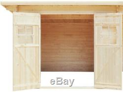 Outdoor Garden Shed Large Summerhouse Log Cabin Screen House Patio Storage Seat
