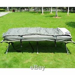 Outsunny Portable Camping Cot Tent Air Mattress Sleeping Bag Pillow Heavy Duty