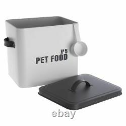 Pet Food Cat Dog Treat Tin Traditional Metal Container Storage Puppy Kitten Box