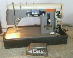 Pfaff 139 Vintage Sewing Machine Heavy Duty HIGH SHANK 3 layers leather withcase