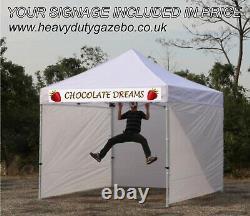 Pop Up 3x3m Heavy Duty Waterproof Commercial Grade Gazebo 40mm STRONGER HEX LEGS