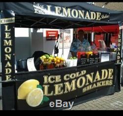 Pop Up GAZEBO kiosk 3x3m Heavy Duty Waterproof Commercial Market Stall + SIGN