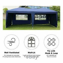 Pop Up Gazebo 3x3m with 4 Sides Garden Heavy Duty Marquee Waterproof Tent Canopy