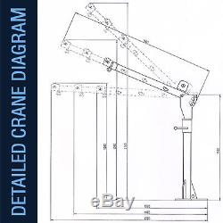 Portable 12v Electric Crane Hoist, Deer Lift 3000lb Rhino Winch over 1 Ton Lift