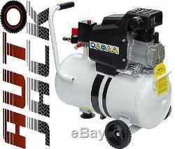 Portable 24 Litre Tank Air Compressor 1.5HP 24L 8 Bar 115PSI CFM 240v Heavy Duty