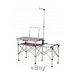 Portable Camping Kitchen Table Lightweight Folding Cooking Equipment Furniture