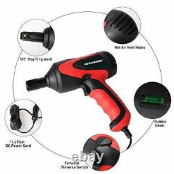 Portable Electric Car Impact Wrench Repair Tool 1/2 12 Volt carry case socket