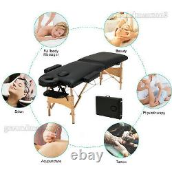 Portable Folding Massage Table Bed Beauty Salon Therapy Tattoo Couch Heavy Duty