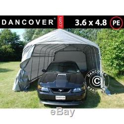 Portable Garage PRO 3.6x4.8x2.7 m, PE, Grey