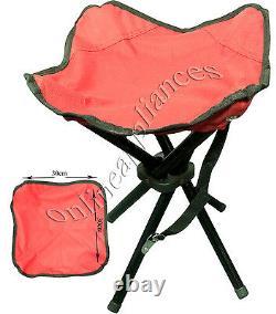 Portable Heavy Duty 4 Legs Camping Stool Folding Chair Seat Fishing Hiking Bbq