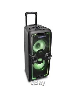 Portable Heavy Duty Bluetooth Speaker 2000 iDance Megabox Party System in Black
