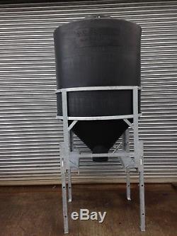 Portable Ton Meal Bin (1000kg) Heavy Duty Polyethylene with Galvanised frame