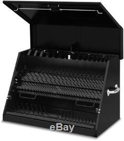 Portable Tool Box Montezuma 30 in. Sturdy Heavy-duty Steel Black Powder Coat