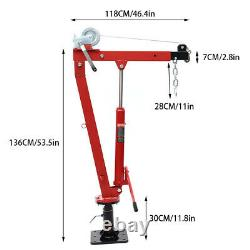 Portable Truck Crane Hoist Deer Lift Manual Winch Hydraulic 450kg Workshop Jack