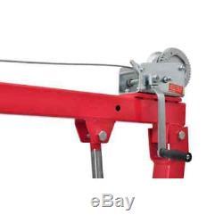 Portable Truck Crane Hoist Deer Lift Winch Hydraulic Hand Pump Manual