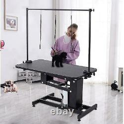 Professional Hydraulic Pet Dog Grooming Table Adjustable Lift with H Bar Arm Leash