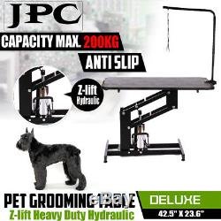 Professional Hydraulic Pet Dog Grooming Table Adjustable Rubber Cover Z-lift